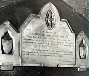 Memorial to Jeremiah Box Stockdale
